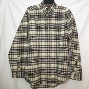 TOMMY HILFIGER LONG SLEEVE BUTTON DOWN SHIRT LARGE